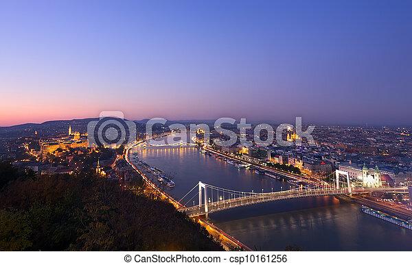 Budapest at night, Hungary - csp10161256