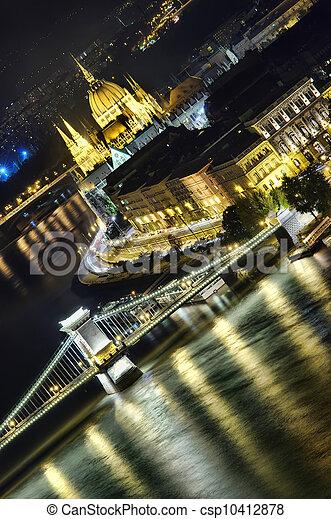 Budapest at night - csp10412878