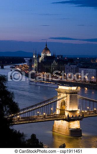 Budapest at night - csp1911451