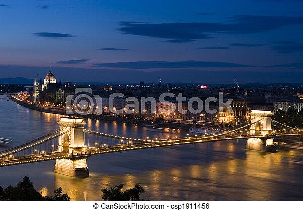 Budapest at night - csp1911456