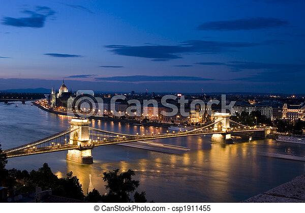 Budapest at night - csp1911455