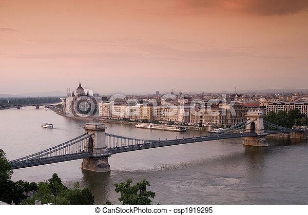 Budapest at night - csp1919295