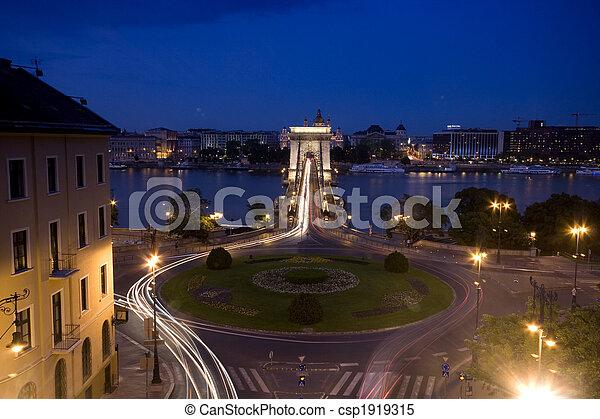 Budapest at night - csp1919315