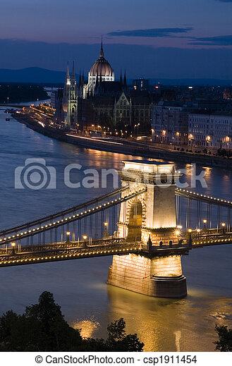 Budapest at night - csp1911454