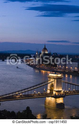 Budapest at night - csp1911450