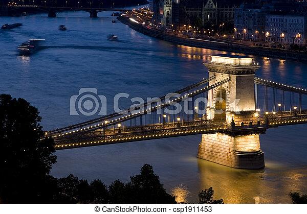 Budapest at night - csp1911453