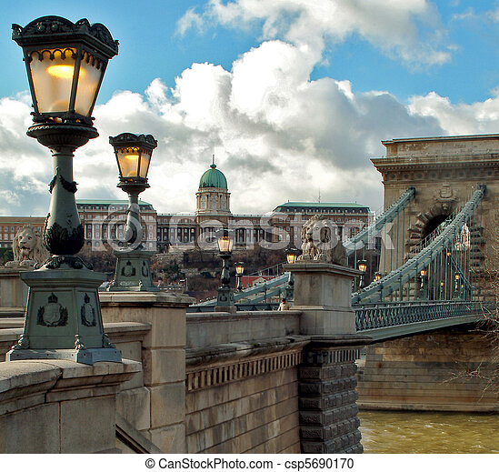 budapest, cadena el puente - csp5690170