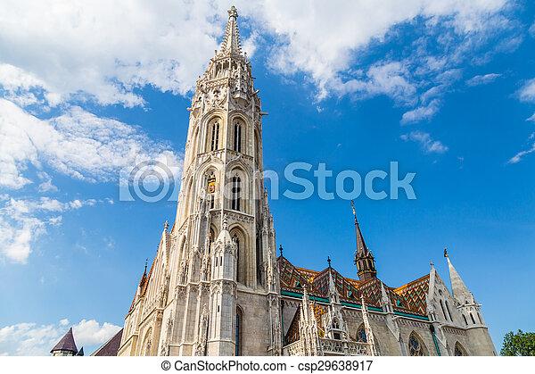 Budapest Hungary, Matthias Church - csp29638917