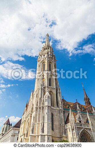 Budapest Hungary, Matthias Church - csp29638900