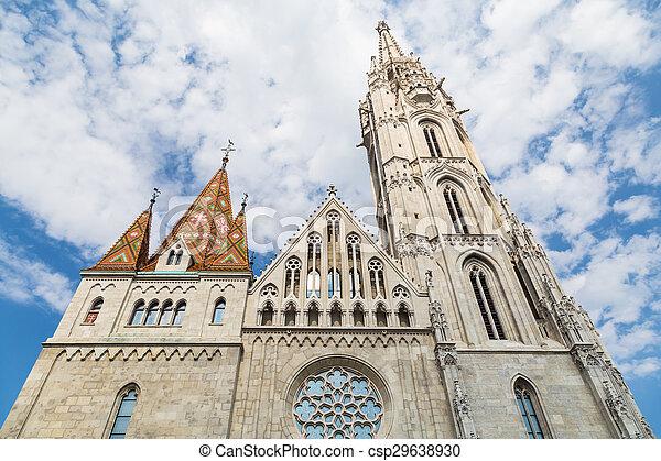 Budapest Hungary, Matthias Church - csp29638930