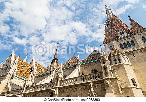 Budapest Hungary, Matthias Church - csp29638931