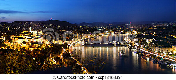 Budapest, Hungary. View from Gellert Hill - csp12183394