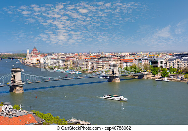 Budapest in a sunny spring day - csp40788062