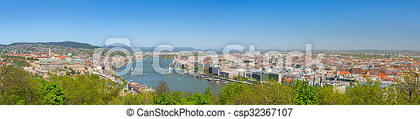 Budapest in a sunny spring day - csp32367107