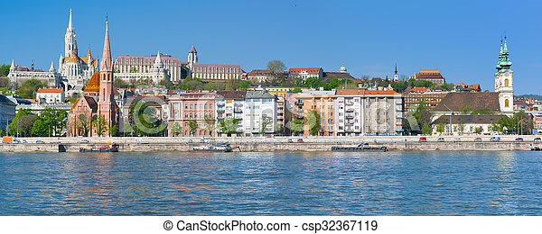 Budapest in a sunny spring morning - csp32367119