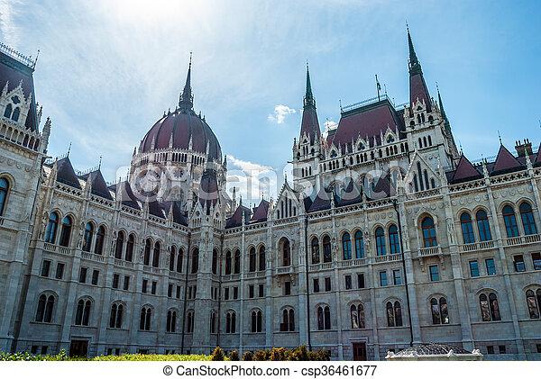 Budapest, parliament - csp36461677