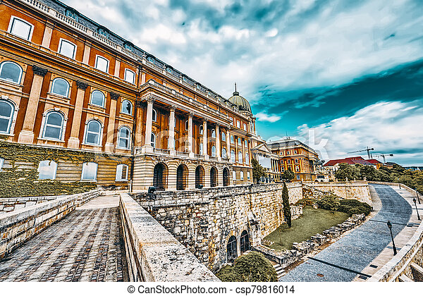 Budapest Royal Castle at day time. Hungary. - csp79816014