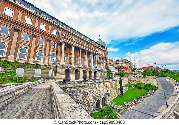 Budapest Royal Castle at day time. Hungary. - csp39038486