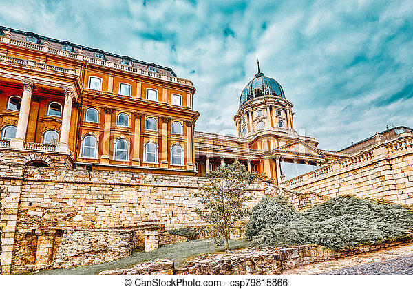 Budapest Royal Castle at day time. Hungary. - csp79815866