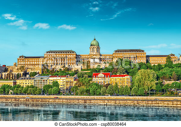 Budapest Royal Castle at morning time. Hungary. - csp80038464