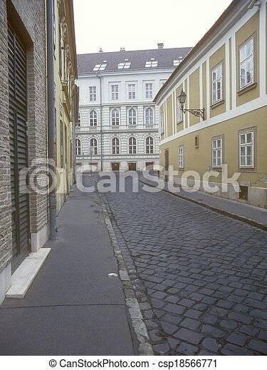 budapest., rua, antigas - csp18566771