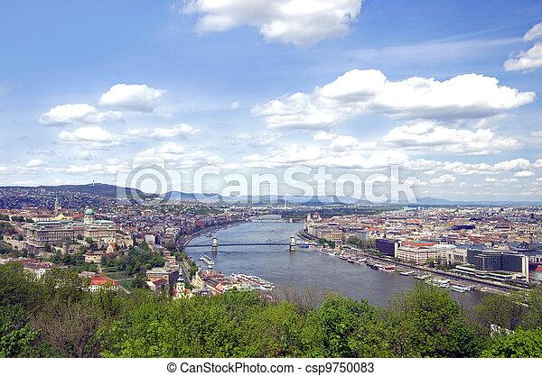 budapest skyline - csp9750083