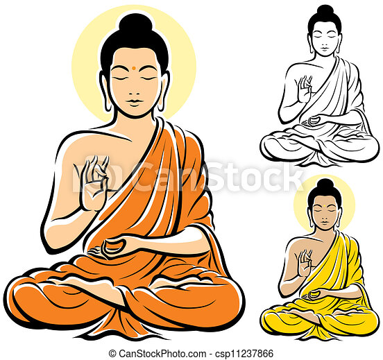 buddha clip art and stock illustrations 10 310 buddha eps rh canstockphoto com thai buddha clipart bouddha clipart