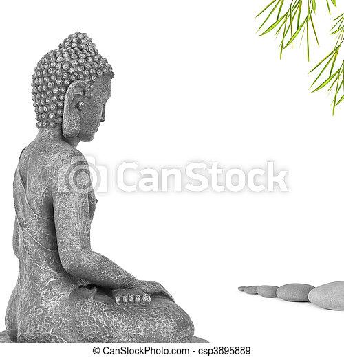 Buddha Contemplation - csp3895889