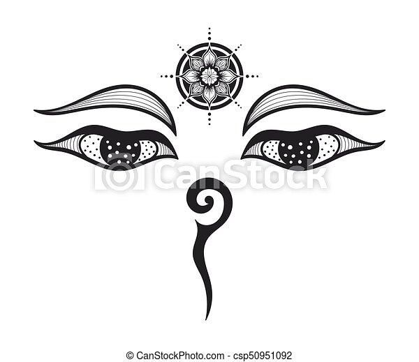 Buddha Eyes Design Eyes Of Buddha Buddhist Eyes Symbol Wisdom And