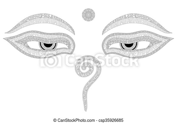 Buddha Eyes Nepal Symbol Of Wisdom And Enlightenment