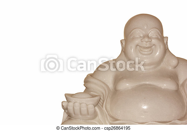 Buddha figurines on a white background. - csp26864195