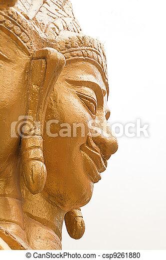 Buddha Half Face Stock Photo