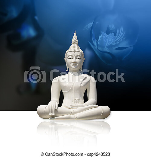Buddha, isolated (clipping path) - csp4243523