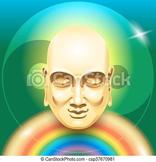 Buddha Rainbow - csp37670981