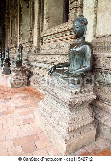 Buddha statue in Laos - csp11542712