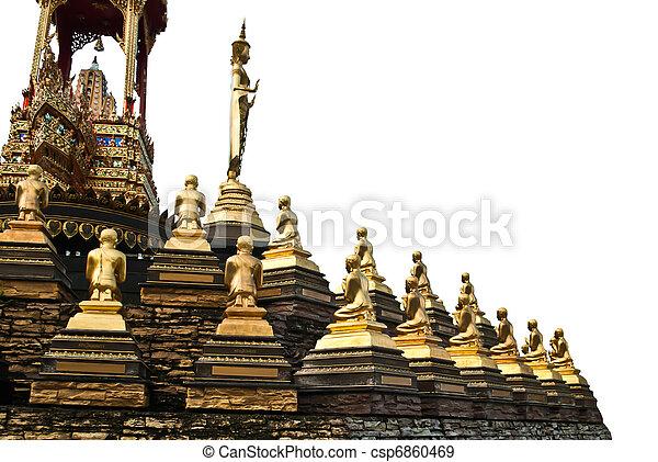 buddha statue in Thailand isolate on white backgroun - csp6860469