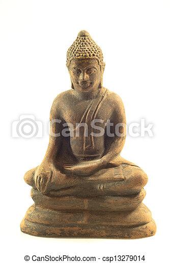 buddha statue on a white background - csp13279014