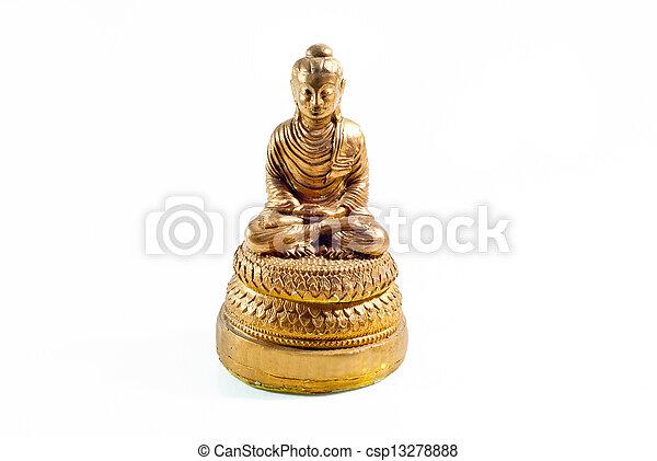 buddha statue on a white background - csp13278888