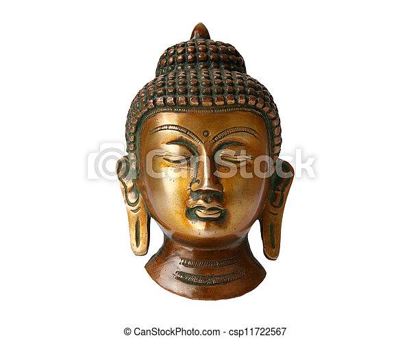 Buddha statue on a white background - csp11722567