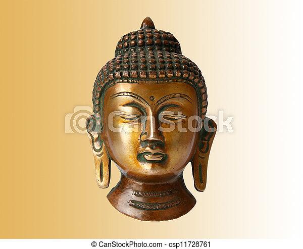 Buddha statue on a white background - csp11728761