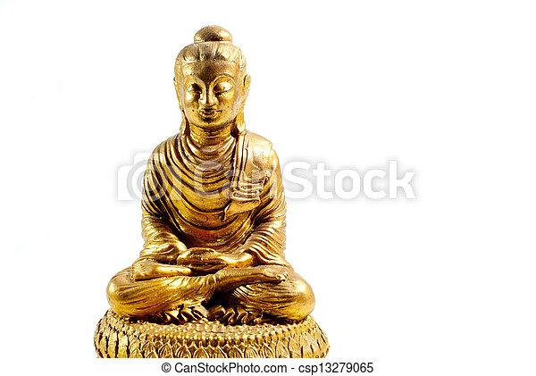 buddha statue on a white background - csp13279065