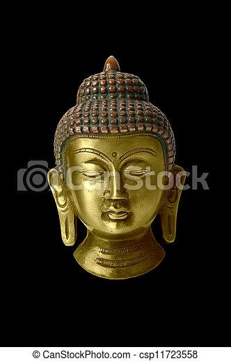 Buddha statue on a white background - csp11723558