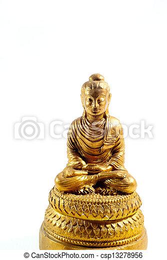 buddha statue on a white background - csp13278956