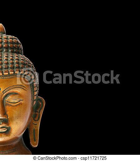 Buddha statue on a white background - csp11721725