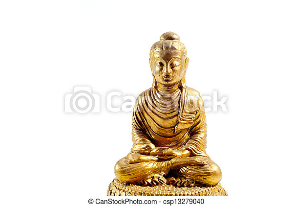 buddha statue on a white background - csp13279040