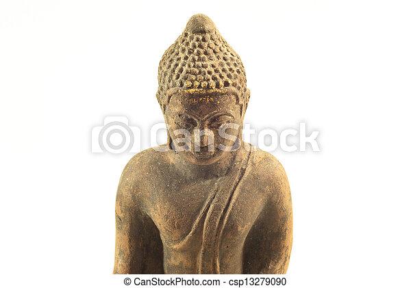 buddha statue on a white background - csp13279090