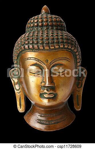 Buddha statue on a white background - csp11728609