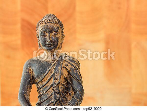buddha, torso, fundo, calmo - csp9219020