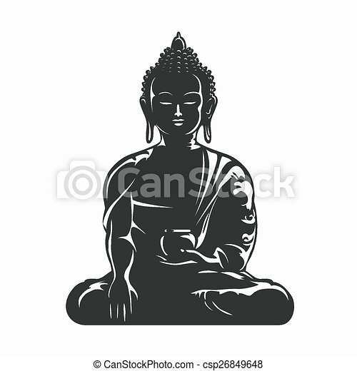 buddha vector silhouette buddha black silhouette eps vector rh canstockphoto com buddha vector free buddha vector free download