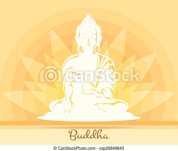 Buddha With Lotus Flower Buddhism And Yoga Health And Symbol